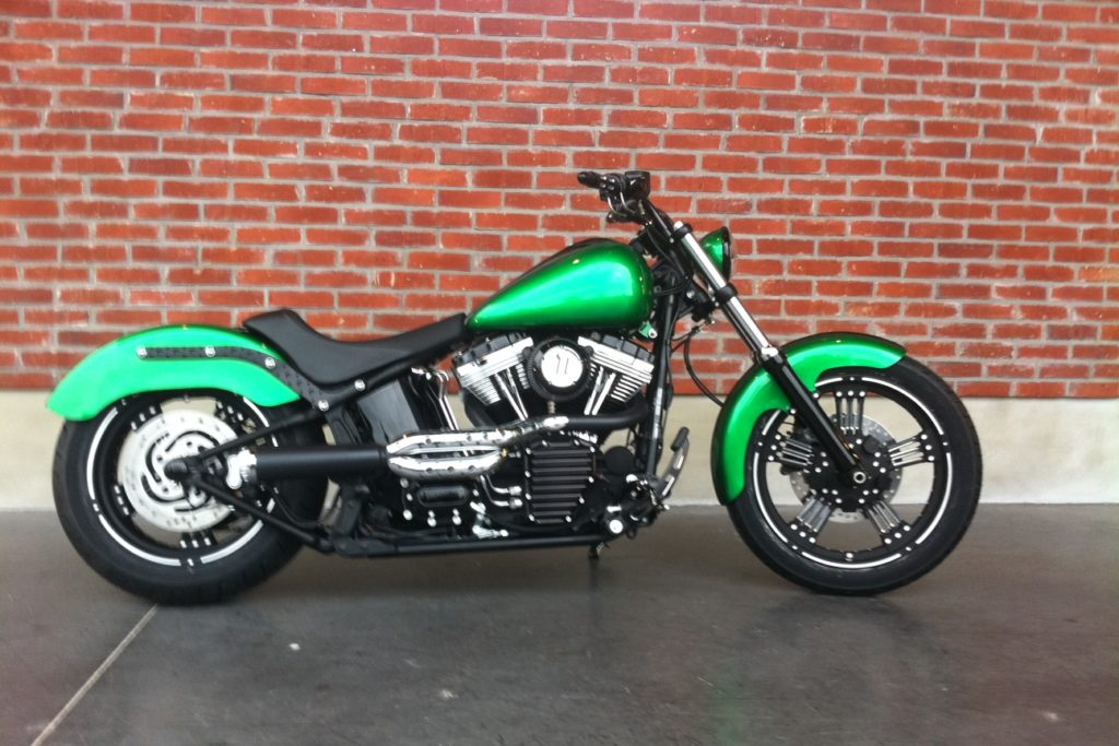 Harley softail « green » Borie