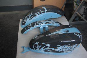 Harley Sportster Flowers