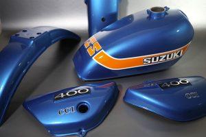 Suzuki 400 TS Restauration peinture